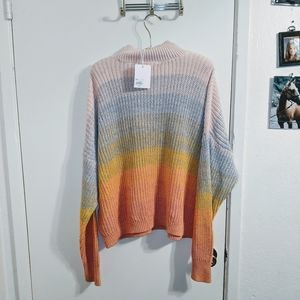 Lauren Conrad Rainbow Stripe Sweater XL